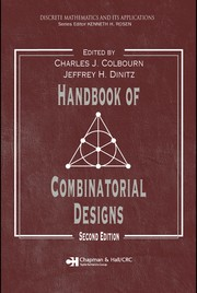 Cover of: Handbook of combinatorial designs |