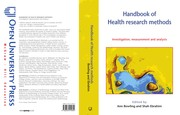 Cover of: Handbook of health research methods |