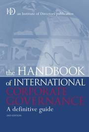 Cover of: The handbook of international corporate governance |