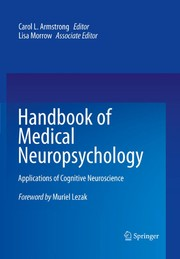 Cover of: Handbook of medical neuropsychology