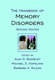 Cover of: The handbook of memory disorders