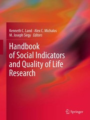 Cover of: Handbook of social indicators and quality-of-life research