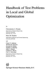 Cover of: Handbook of Test Problems in Local and Global Optimization | Christodoulos A. Floudas