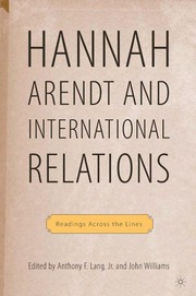 Cover of: Hannah Arendt and international relations |