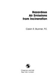 Cover of: Hazardous Air Emissions from Incineration | Calvin R. Brunner
