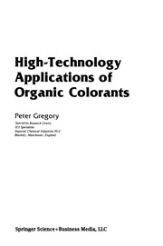 Cover of: High-Technology Applications of Organic Colorants | Gregory, Peter