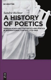 Cover of: A history of poetics | Sandra Richter