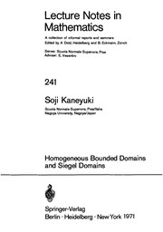 Cover of: Homogeneous bounded domains and Siegel domains