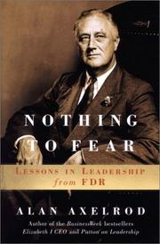 Cover of: Nothing to fear | Alan Axelrod