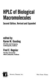 Cover of: HPLC of biological macromolecules |
