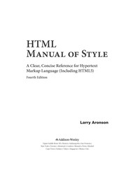 Cover of: HTML manual of style