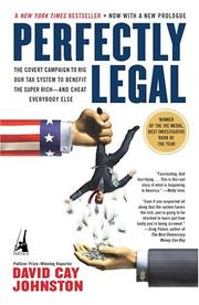 Cover of: Perfectly Legal | David Cay Johnston