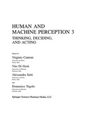 Cover of: Human and Machine Perception 3 | V. Cantoni