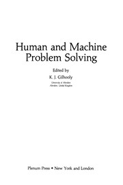 Cover of: Human and Machine Problem Solving