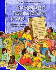 Cover of: The Essentials of Teaching Children to Read | D. Ray Reutzel, Robert B. Cooter