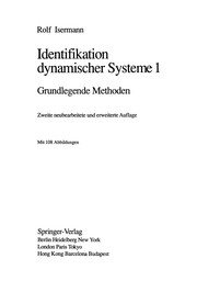 Cover of: Identifikation Dynamischer Systeme 1 | Rolf Isermann