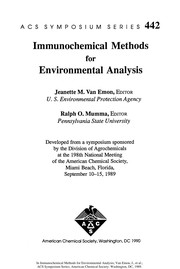 Cover of: Immunochemical methods for environmental analysis |