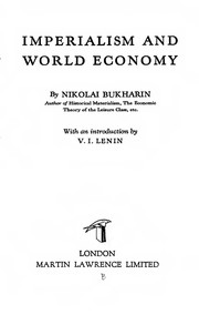 Cover of: Imperialism and world economy | N. Bukharin
