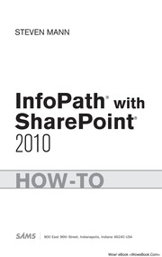 Cover of: InfoPath with SharePoint 2010 how-to