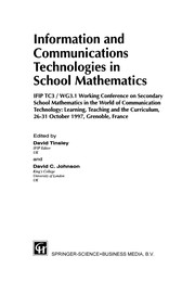 Cover of: Information and communication technologies in school mathematics