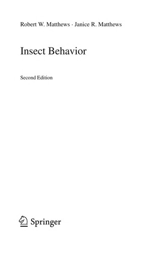 Insect behavior by Robert W. Matthews