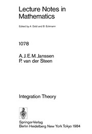 Cover of: Integration theory | A. J. E. M. Janssen