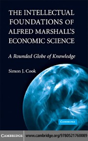 The intellectual foundations of Alfred Marshalls economic science
