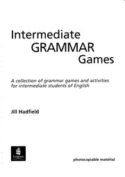Cover of: Intermediate Grammar Games (Games & Activities Series) |