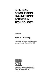 Cover of: Internal Combustion Engineering: Science & Technology | John H. Weaving