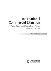 Cover of: International commercial litigation