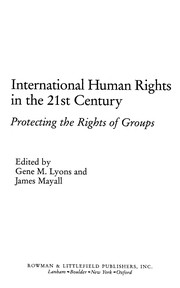 Cover of: International human rights in the 21st century |