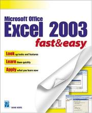 Cover of: Microsoft Excel 2003 Fast & Easy