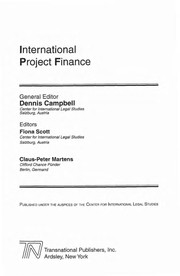Cover of: International project finance | Dennis Campbell