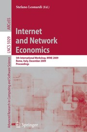 Cover of: Internet and network economics | WINE 2009 (2009 Rome, Italy)