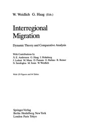Cover of: Interregional Migration | Weidlich, Wolfgang