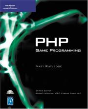 Cover of: PHP Game Programming | Matt Rutledge