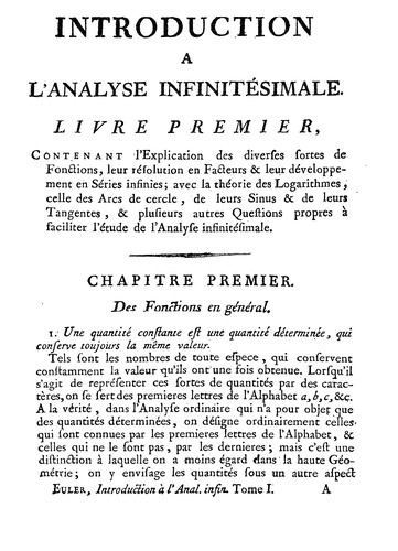 Introduction à l'analyse infinitésimale by Leonhard Euler