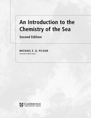 Cover of: An introduction to the chemistry of the sea