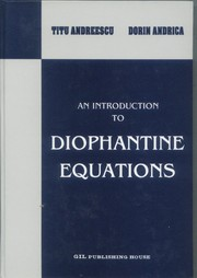Cover of: An introduction to Diophantine equations
