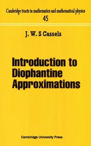 Cover of: Introduction to diophantine approximation