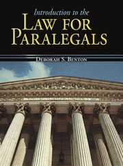 Cover of: Introduction to the law for paralegals | Deborah S. Benton