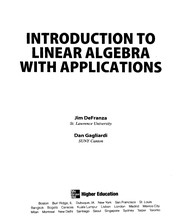 Cover of: Introduction to Linear Algebra | James Defranza