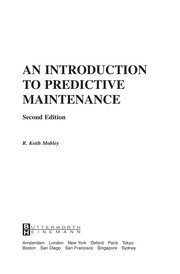 Cover of: An introduction to predictive maintenance | R. Keith Mobley