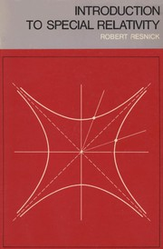 Cover of: Introduction to special relativity | Robert Resnick