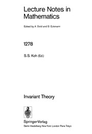 Cover of: Invariant theory |