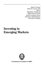 Cover of: Investing in emerging markets |