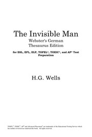 Cover of: The invisible man | H. G. Wells