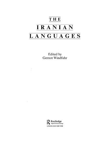 The Iranian languages by Gernot Windfuhr