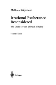 Cover of: Irrational Exuberance Reconsidered | Mathias KГјlpmann