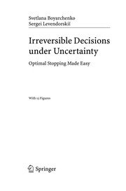 Cover of: Irreversible decisions under uncertainty